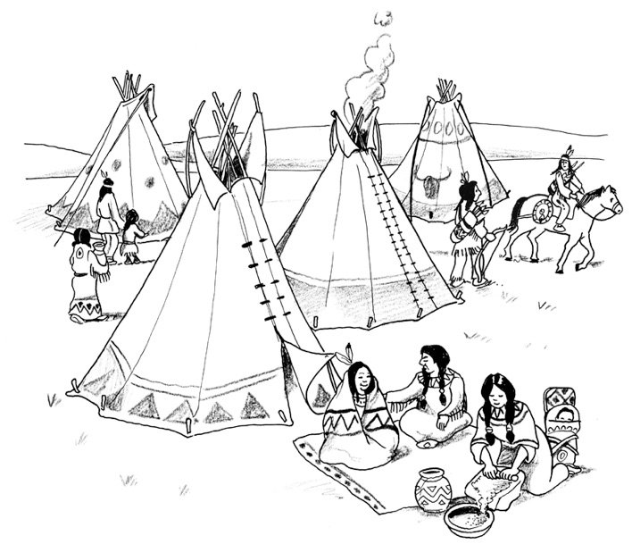 Malvorlagen Indianer Tipi My Blog